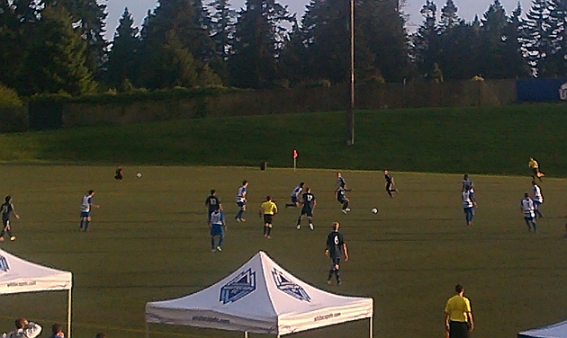Vancouver Whitecaps kick off their PDL campaign against Kitsap Pumas. Previously spread out around the lower mainland, Thunderbird Stadium at UBC will be the home ground for PDL games. Photo Andrew Bates/Little Rubber Pellets