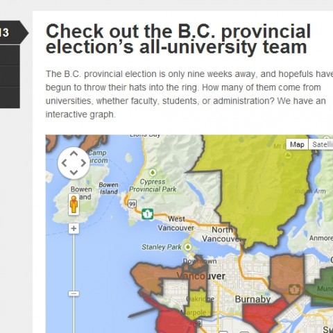 Check out the B.C. provincial election's all-university team