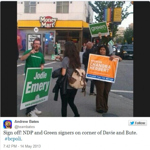 Livetweets from 2013 B.C. election coverage