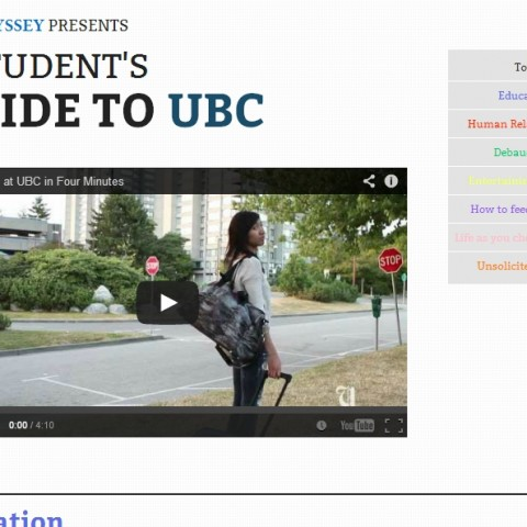 The Ubyssey Presents a Student's Guide to UBC