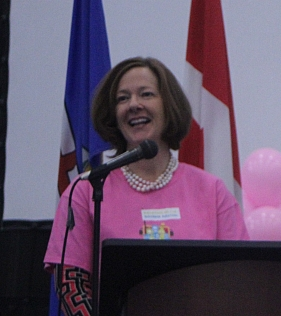 Alison Redford, Mackenzie Murphy on dealing with bullying at Lac La Biche Pink Shirt day